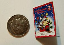 Miniature dollhouse Christmas book 1/12 Scale Charlie Brown Snoopy Peanut Lucy R