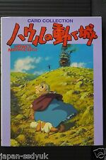 Japan Howl's Moving Castle Card Collection (Posrcard Book)