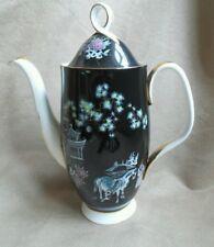Royal Albert Oriental 1940s Antique Collectable Rare  coffee pot horses pagoda