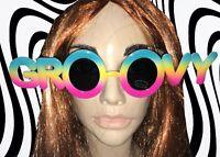 A572✪  Hippie Brille 60er 70er Jahre Kult groovy Schlagermove Partybrille