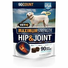VetIQ Maximum Strength Hip and Joint Supplement for Dogs - Chicken Flavored S...