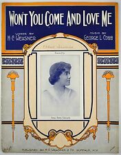 Won't You Come and Love Me 1916 Sheet Music~George L. Cobb~Ragtime Piano