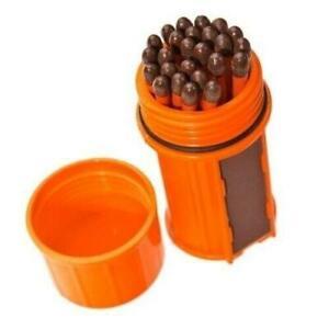 UCO Stormproof Match Kit Orange Matchbox w/25 Waterproof Long Burn Matches/Case