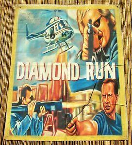 African Ghana Cinema Movie Flour Sack Painting Poster Diamond Run WAS $1195
