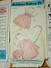 VINTAGE WELDONS SEWING PATTERN 1182 BABY LAYETTE ONE SIZE ONLY