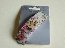 NEW 9cm Vintage Cream/Pink floral print barrette hair clip fashion