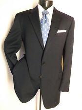 Fantastic Dunhill Tailors Navy Blue 2B Men's Wool Sport Coat Blazer size 40L