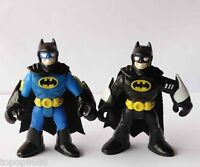 #W1~ LOT 2 Imaginext DC Super Friends Batman Action Figure Fisher-Price Hero