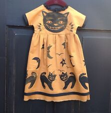 Primitive Halloween dress hand painted black cats wall ,cupboard decoration
