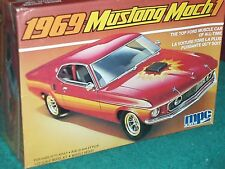 1986 RELEASE MPC 1969 FORD MUSTANG MACH 1 PLASTIC MODEL KIT 1/25 SEALED LEVEL 2