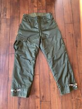 USN US NAVY TROUSERS EXTREME COLD WEATHER IMPERMEABLE SZ 31-34 MEDIUM 1982