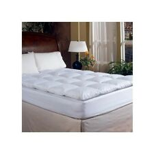 Down Featherbed Mattress Topper FULL Bedding Cover Pad Pillow Top Thick White