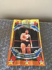 1989 General Foods Honeycomb WWF Superstars Andre The Giant    Poster WWE Rare