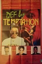 "DEF BY TEMPTATION - 26""x40"" Original Movie Home Video Poster 1990 Rare"