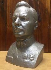 Vintage Bust Of Russian Officer Kliment Voroshilov Soviet Union