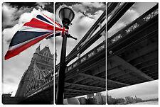 Quadro moderno londra tower bridge UNION JACK - LONDON 3pz 80X120 testata letto
