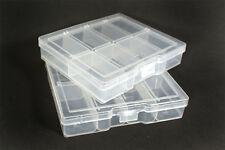 8 Slot Plastic Jewelry Rings Beads Display Holder Box Case Organizer Storage 2pc