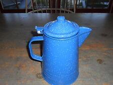 ANTIQUE REPRODUCTION  BLUE GRANITE COFFEE POT