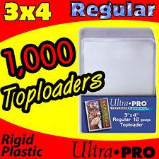 1000 ULTRA PRO REGULAR 3X4 TOPLOADERS MAGIC THE GATHERING CARD HOLDER 81222-1000
