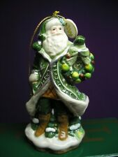 Fitz And Floyd 2009 Porcelain Figurine Ornament Winter Garden Santa New In Box