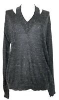 STELLA MCCARTNEY GRAY FINE KNIT SWEATER, 42, $795