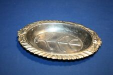 Old small silver dish made in occupied Japan