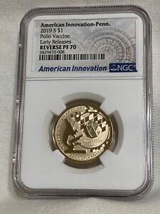 2019 S REVERSE PROOF AMERICAN INNOVATION $1 NGC PF70  Early Release Pennslyvania