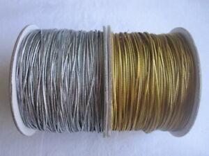 4m of Metallic 1mm Elastic - Various Colours