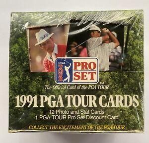 Vintage 1991 Pro Set Golf Box PGA Tour Cards - Daly - Snead - Nicklaus - Singh