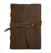 Handmade Crazy Horse Leather Journal – Vintage Style – Rustic, Unique Color &...