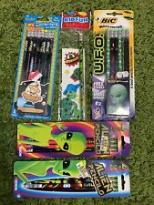 New Dixon NO. 2 Alien Pencil Packs, U.F.O Bic Pencils, Foohy Cool Writers Uranus