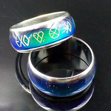 New Style Finger Ring Kpop EXO Temperature Change Color Ring Stainless Steel