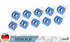 10Stk 2P Schraub-Terminal 5mm-Raster blau für Arduino RC-Modellbau Prototyping