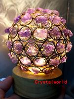 Natural Amethyst lamp Geode Quartz Cluster Crystal Specimen Healing
