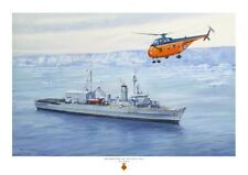 HMS PROTECTOR A3 size art print from a painting by Ross Watton
