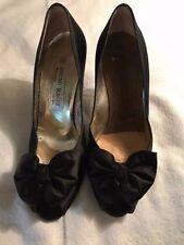 6d11994bd48 Bruno Magli Heels Pumps Bow Tie Satin Open Toe Black Shoes Women s Size 8B