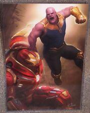 Avengers Thanos vs Hulkbuster Glossy Art Print 11 x 17 In Hard Plastic Sleeve