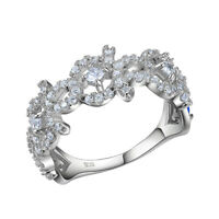 Wedding Band Engagement Ring For Women White Cz 925 Sterling Silver Size 5-10