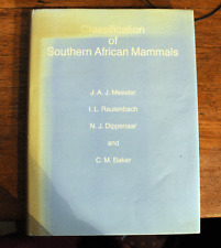 Classification of Southern African Mammals - Signed 1st Ed - 1986