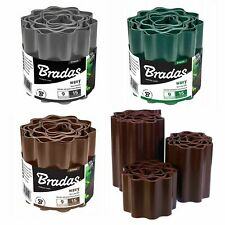 More details for 9m plastic garden lawn edging grass border fence roll path wavy ladscape edging