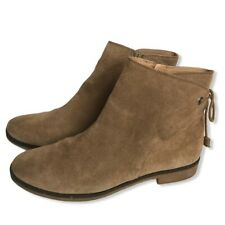 Lucky Brand Gwenore Tie Suede Bootie Ankle Boot