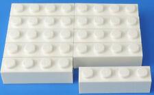 LEGO 1x4 BLOCCHI PREDEFINITI BASE Mattoncini di base pietra bianco / 10-pc