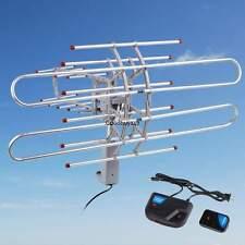 Outdoor 1080p HDTV Amplified Antenna 360 Rotor Digital HD TV UHF VHF FM 150 Mile