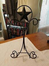 Metal Decorative Display Plate, Art, Book Easel **Star Design Black**