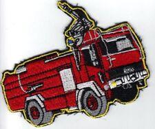 Aufnäher Feuerwehrauto Spritzenwagen, ca.9 x 7 cm groß, Neuware