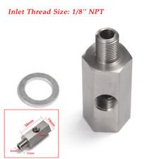 1/8'' NPT Oil Pressure Sensor Tee to NPT Adapter Turbo Supply Feed Fitting Valid