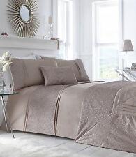 King Size copripiumino Lavelle Mink OFF GOLD Crinkle bordo Biancheria da letto di lusso