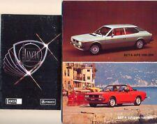 Lancia Beta Coupe Spider HPE Stratos A112 Abarth colour original sales brochure