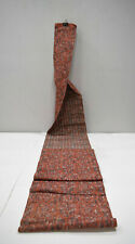 Japanese Coral Silver Patterned Rayon Obi or Sash Womens Kimono Belt