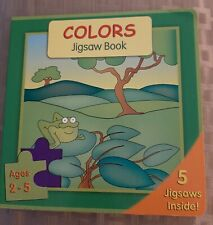 Colors Jigsaw Book 5 Puzzles Toddler New Age 2-5